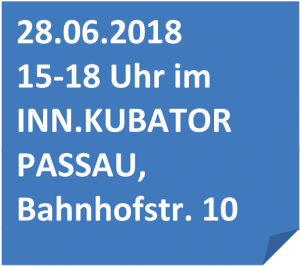 Informationen zum Gründerbox Design Thinking Workshop im INN.KUBATOR Passau